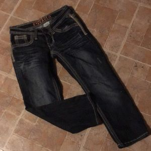 Hydraulic cropped skinny jeans size women's 1/2